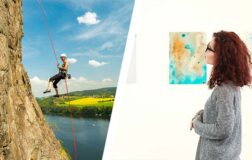 abseiling art gallery