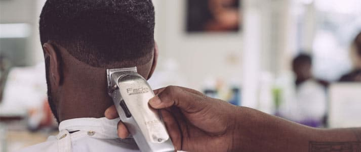 barber haircut trim with razor