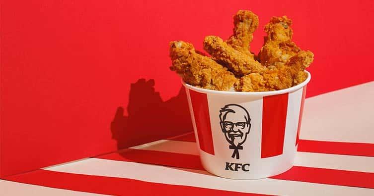 kfc chicken crispy bucket