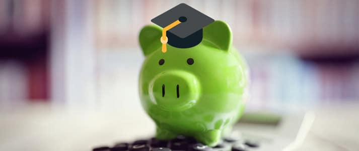 student savings piggy bank